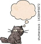 cartoon cat with thought bubble ... | Shutterstock .eps vector #1428495872