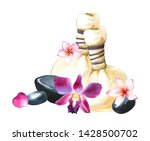 spa watercolor illustrations... | Shutterstock . vector #1428500702