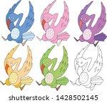 print cartoon doodle color set... | Shutterstock .eps vector #1428502145