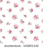 cute rose seamless vector... | Shutterstock .eps vector #142851142