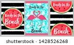 beach towels design template....   Shutterstock .eps vector #1428526268