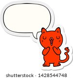 cartoon cat with speech bubble... | Shutterstock .eps vector #1428544748