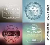vector vintage labels... | Shutterstock .eps vector #142854805