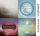 vector vintage labels... | Shutterstock .eps vector #142854805