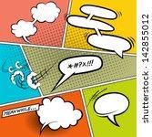 retro comic speech bubbles  ... | Shutterstock .eps vector #142855012