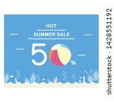 vector illustration of summer...   Shutterstock .eps vector #1428551192
