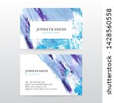 business card template with... | Shutterstock . vector #1428560558