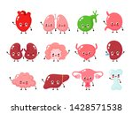 cute smiling happy human... | Shutterstock .eps vector #1428571538