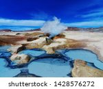 Blue Geysers In The Middle Of ...