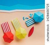 summer background with three... | Shutterstock . vector #1428600725