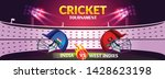 cricket tournament  india v s... | Shutterstock .eps vector #1428623198