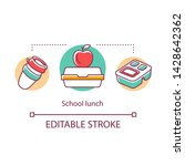 school lunch concept icon. meal ... | Shutterstock .eps vector #1428642362
