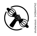 hand holding varja logo sign | Shutterstock . vector #1428644762