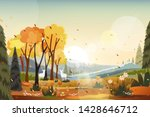 fantasy panorama landscapes of... | Shutterstock .eps vector #1428646712