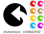 reply arrow negative space icon   Shutterstock .eps vector #1428662552