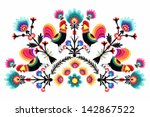 folk pattern from poland. | Shutterstock .eps vector #142867522