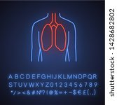 healthy lungs neon light icon.... | Shutterstock .eps vector #1428682802