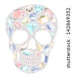 Skull With Gemstones Pattern.