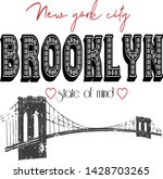 trendy fashion brooklyn state... | Shutterstock .eps vector #1428703265