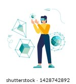 vector illustration. modern... | Shutterstock .eps vector #1428742892