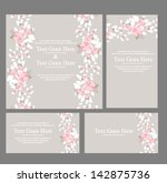 wedding invitation | Shutterstock .eps vector #142875736