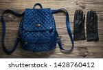 leather fashionable backpack ... | Shutterstock . vector #1428760412