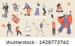 set of vector illustrations of... | Shutterstock .eps vector #1428773762