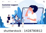 customer support concept.... | Shutterstock .eps vector #1428780812
