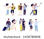 tourist characters. young... | Shutterstock .eps vector #1428780848