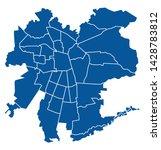 outline blue map of santiago   Shutterstock .eps vector #1428783812