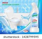 toilet detergent cleaner.... | Shutterstock .eps vector #1428799595