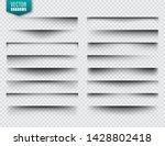 vector shadows set. page...   Shutterstock .eps vector #1428802418