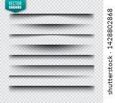 vector shadows set. page...   Shutterstock .eps vector #1428802868
