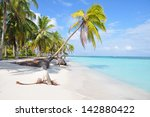 the most beautiful lonely beach ... | Shutterstock . vector #142880422