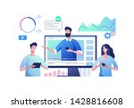 online video communication.... | Shutterstock .eps vector #1428816608