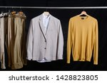 fashion striped clothes jacket... | Shutterstock . vector #1428823805