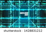 vector particle grid.... | Shutterstock .eps vector #1428831212