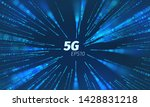 5g superspeed data channel.... | Shutterstock .eps vector #1428831218