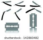 silhouettes of razors vector | Shutterstock .eps vector #142883482