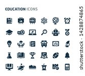 simple bold vector icons... | Shutterstock .eps vector #1428874865