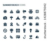 simple bold vector icons... | Shutterstock .eps vector #1428875042