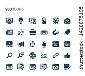 simple bold vector icons... | Shutterstock .eps vector #1428875105