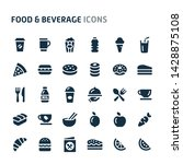 simple bold vector icons...   Shutterstock .eps vector #1428875108