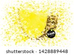 pineapple slice with a splash...   Shutterstock .eps vector #1428889448