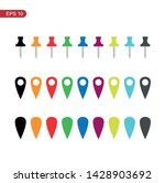 colorful marker for map   3... | Shutterstock .eps vector #1428903692