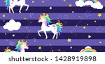vector background with unicorns ... | Shutterstock .eps vector #1428919898