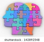 male female couple faces symbol ... | Shutterstock . vector #142892548
