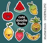 cute doodle fruit illustration...   Shutterstock .eps vector #1428961292