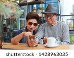 asian retirement couple  old... | Shutterstock . vector #1428963035