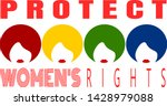 protect women's rights design...   Shutterstock .eps vector #1428979088